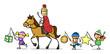Martinszug mit Sankt Martin auf Pferd