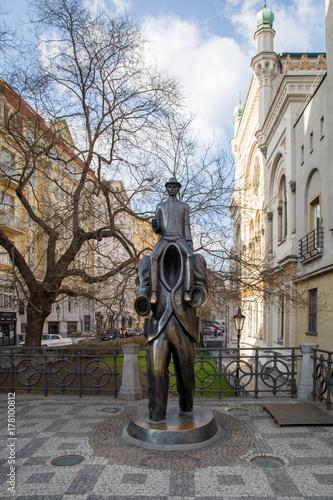 Franz Kafka statue in Prague Poster