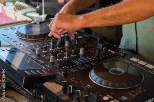 DJ, hands Poster