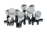 Pistons and crankshaft on a white background. The V8 engine. 3D rendering. - 178117602