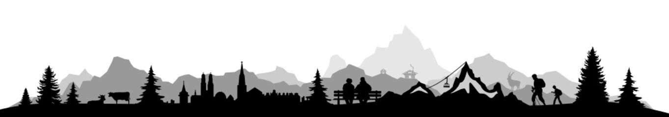 Skyline Alpen