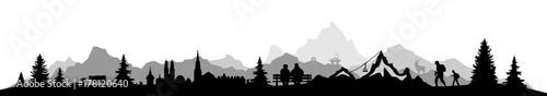 Papiers peints Blanc Skyline Alpen