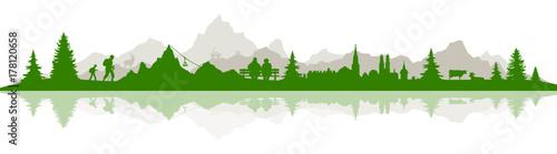 Poster Skyline Alpen