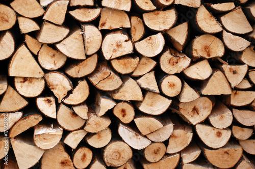 Papiers peints Texture de bois de chauffage Catasta di legna da ardere