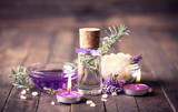 Spa set with lavender aromatherapy oil - 178124829