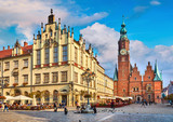 Town hall on market square in Wroclaw Poland picturesque