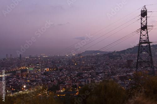 Fotobehang Barcelona electrical network