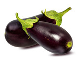 Fresh eggplant isolated on white background  with clipping path - 178138240