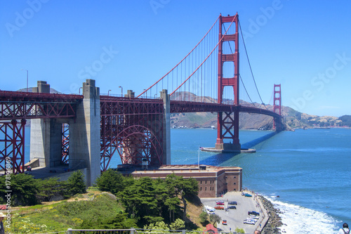 Fort Point and Golden Gate Bridge, San Francisco Poster