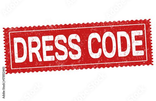 Dress code sign or stamp