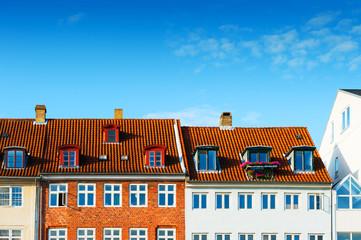 Colorful houses in Copenhagen, Denmark