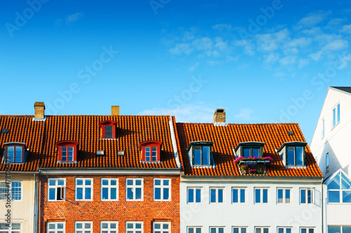 Colorful houses in Copenhagen, Denmark Poster