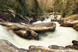 waterfall, fast river