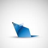 mysz origami wektor