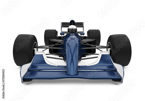 Tuinposter F1 Formula One Race Car Isolated