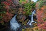 Ryuzu waterfalls with autumn colors season, Nikko, Japan. - 178192001
