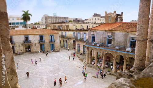 Foto op Canvas Havana Havanna - Altstadt, Plaza de la catedral