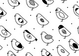 Seamless pattern birds