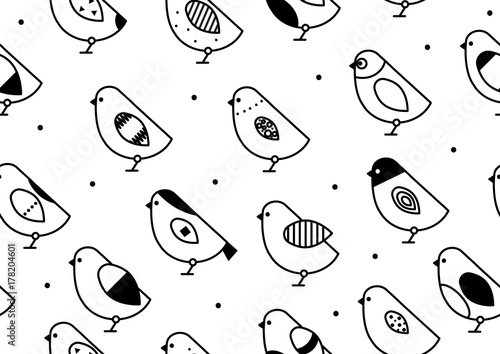 Seamless pattern birds