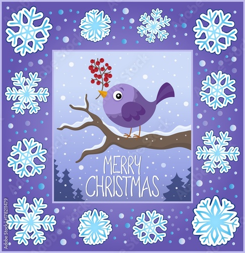 Fotobehang Voor kinderen Christmas ornamental greeting card 8