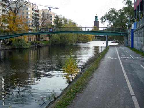 Staande foto Stockholm Footbridge, Stockholm, Sweden