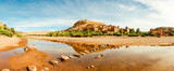 Panorama of famous Ait Benhaddou, Morocco