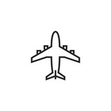 Aircraft Icon Vector Isolated