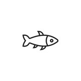 Fish Icon Vector Isolated - 178222884