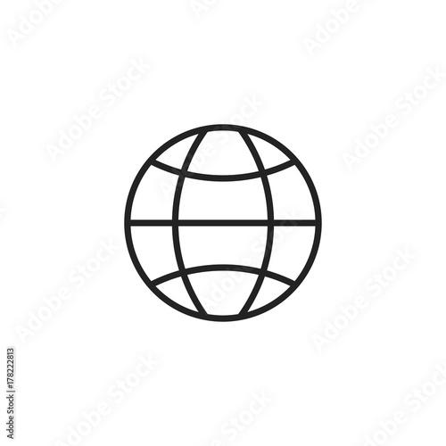 Fototapeta Globe Icon Vector Isolated