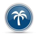 Blauer Button - Palme - 178224880