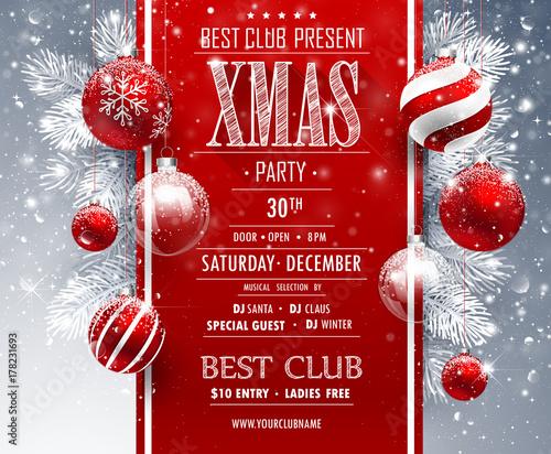 Papiers peints Echelle de hauteur Christmas Party design