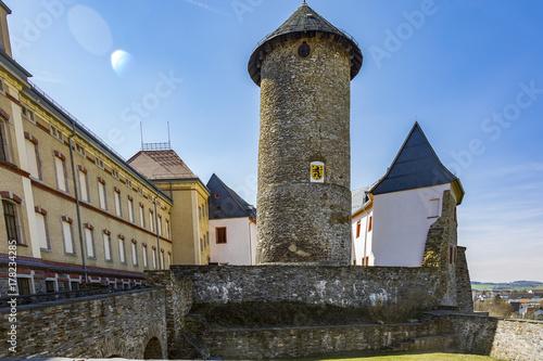 Castle Voigtsberg in Oelsnitz in the Vogtland Poster