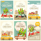 Xmas Posters Winter Holidays Set - 178234859