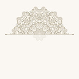 Floral oriental pattern. Beautiful Mandala. Vintage decorative element. Ethnic round ornament. Template of greeting card