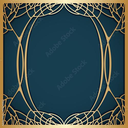 Vector art nouveau frame. - 178243823