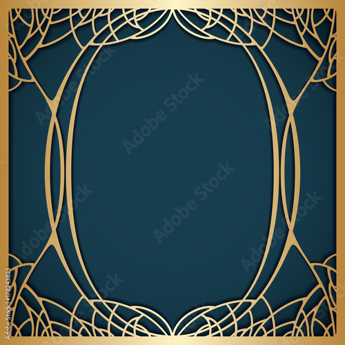 Fototapeta Vector art nouveau frame.