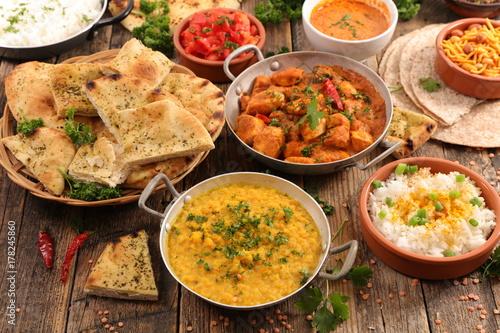 Fridge magnet assorted indian food