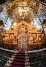 """Постер, картина, фотообои """"Altar of the Church of the Savior on Spilled Blood"""""""
