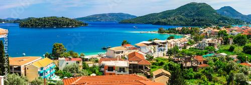Fotobehang Freesurf Panoramic view of Nidri bay, beautiful Lefkada island. Greece