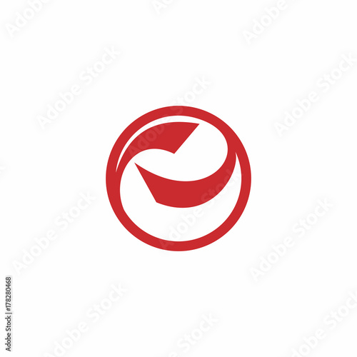 Abstract Circle Letter Logo