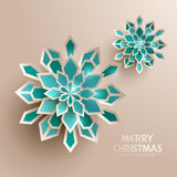 Paper graphic of Christmas snowflakes. Christmas decoration.  - 178295848