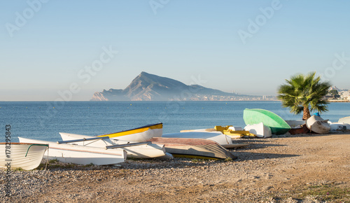 Altea bay with fishing boats