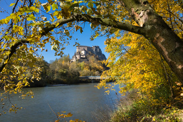 medieval castle in autumn, Oravsky castle, Slovakia