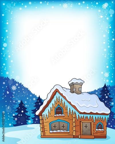 Papiers peints Enfants Winter cottage theme image 3