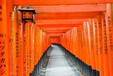 Red Gates of Senbo Torii in Fushimi Inari Taisha in Kyoto City, Japan. June 2017. - 178327019