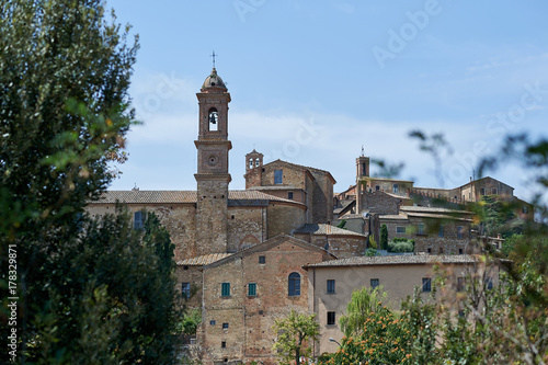 Deurstickers Toscane Old town of Montepulciano in Tuscany Italy