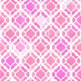 Watercolor abstract geometric pattern. Arab tiles. Kaleidoscope effect. Watercolor mosaic. - 178331880
