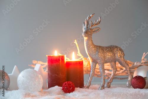 Fotobehang Hert deer deco xmas