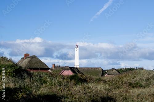 Fotobehang Noordzee Blavand Leuchtturm