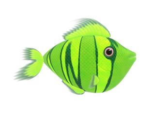 green comic fish